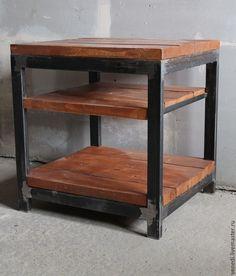 Купить Журнальный стол № 2 - коричневый, журнальный столик, журнальный стол, стол, лофт