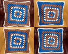 Handarbeiten * Crafts * Labores : Chunky granny square Kissen
