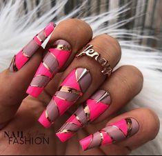 Nail Designs 2017, Colorful Nail Designs, Acrylic Nail Designs, Cute Toe Nails, Hot Nails, Hair And Nails, Pointy Nails, Stylish Nails, Trendy Nails