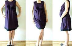 Free maternity dress sewing pattern - Polish