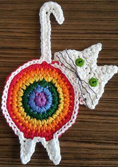 Ravelry: Peeking Cat Butt Coaster by Upper Crust Crochet