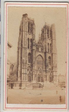 CDV Cathedral of St Michael and St Gudula Brussels – Bruxelles | eBay