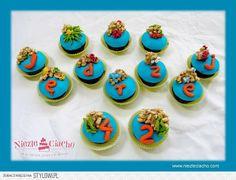 Morskie stworki, zwierzątka morskie, morze, ocean, morskie cup cakes, cup cake, muffinki, ciasteczka