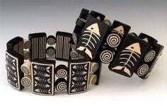 Fishbone Tile Bracelet with Sarah Shriver #craftartedu