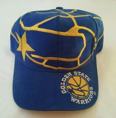 ff64d6a272ff4e Golden State Warriors Officially Licensed vintage 90 s NBA SnapBack The  Game Hat