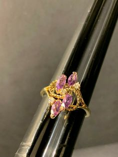 Sterling Silver Gold Finish 4 Marquise Purple Amethyst Ring Size 8 - Marquise Ring - Ideas of Marquise Ring - 0 The post Sterling Silver Gold Finish 4 Marquise Purple Amethyst Ring Size 8 appeared first on Awesome Jewelry. Rings With Meaning, Marquise Diamond, 1 Carat, Eternity Ring, Purple Amethyst, Wedding Bands, Heart Ring, Engagement Rings, Sterling Silver