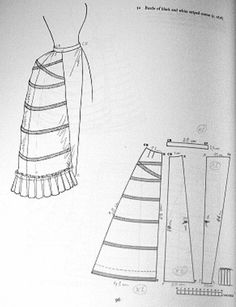 PATTERN! Lobster-tail bustle late Victorian