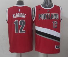 Portland Trail Blazers #12 LaMarcus Aldridge Revolution 30 Swingman 2014 New Red Jersey