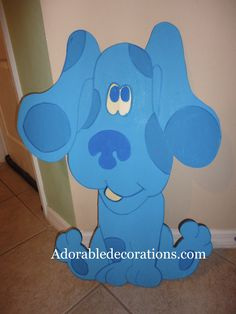 Blue's Clues  Birthday Decorations  3ft Wood Standees  Adorabledecorations.com   The perfect decoration for birthdays, rooms, front yards, parties, baby showers, graduations, birthdays, preschools, daycare, schools, etc. This is the perfect addition to your party or event! Hang it on a wall, put it on a stake in the garden or put it on a table top. Decorate a children's room, play room etc.