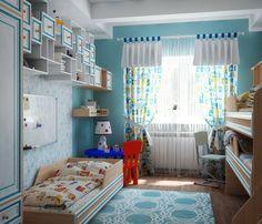 #kids_room #for_3 #children #bedroom #interior #design #Детская для троих детей / Нина Романюк