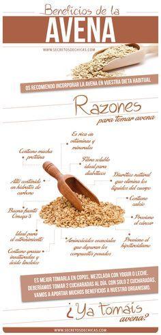 Beneficios avena #Nutrición y #Salud YG > nutricionysaludyg.com