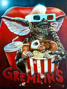 Retro Horror, Vintage Horror, Horror Art, Les Gremlins, Films Récents, Films Cinema, Scary Movies, Halloween Movies, Horror Films