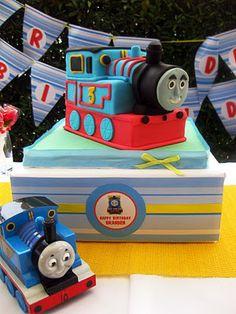 Thomas the train birthday for Jax