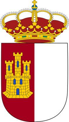 El Escudo de Castilla-La Mancha es basado en la bandera de la región. Hay otros organizaciones también usan el escudo como su emblema como la universidad de Castilla La Mancha y Los Cortes de Castilla La Mancha.