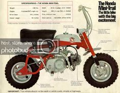 Get This Special Offer 1968 1969 Honda 50 Mini Trail Minibike Mini Bike Motorcycle Photo Enduro Vintage, Vintage Motocross, Vintage Bikes, Classic Honda Motorcycles, Vintage Motorcycles, Kawasaki Motorcycles, Honda Motors, Honda Bikes, Honda Dax