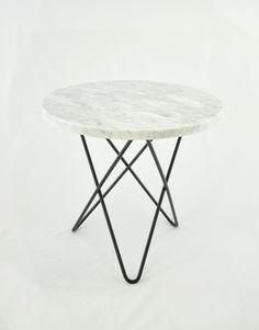 Marmurowy stolik MINI O- Biały   Designzoo