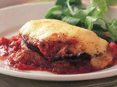 Rich eggplant and tender veal make this parmigiana recipe an enduring classic, fresh sage and bocconcini finish the dish beautifully. This is one of those dishes that quickly become a firm family favourite. #Italian #Main #Easy #MeatDish #Veal