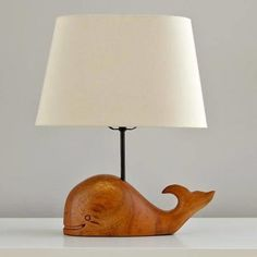 It's the slight smile and smooth wood construction of this whale lamp that elevates it to a polished accent that would be at home in any room of the house. Thar She Glows Table Lamp from Land of Nod, $99; landofnod.com