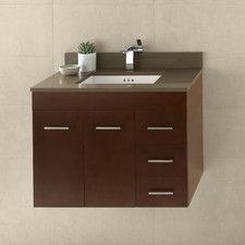 "Bella 31"" Single Wall Mount Bathroom Vanity Set"