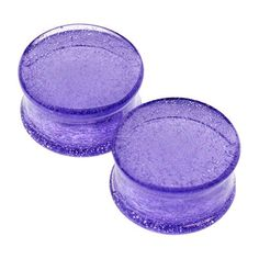 "Translucent Purple Solid Color Plugs by Glasswear Studios #1"" #3/4"" #5/8"""