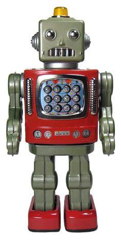 Start Your Own Virtual School Vintage Robots, Retro Vintage, Vintage Toys, Vintage Style, Metal Robot, I Robot, Nono Le Petit Robot, Robot Images, Domo Arigato