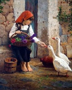 Mauricio Fernandez-Gutierrez is a self taught mexican artist, he was born in Tehuacan, Puebla in he likes to paint in a . Classic Paintings, Paintings I Love, Beautiful Paintings, Art Canard, Oil Painting Flowers, Fine Art, Beauty Art, Art Oil, Belle Photo