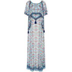 Talitha     Maharaja Print Bela Dress (15.602.410 IDR) ❤ liked on Polyvore featuring dresses, blue print dress, overlay dress, pattern dress, blue overlay dress and print dress