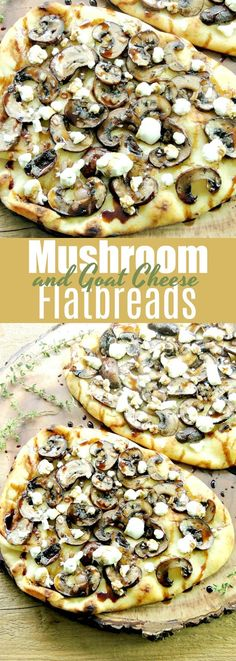 Goats Cheese Flatbread, Flatbread Pizza Recipes, Goat Cheese Pizza, Goat Cheese Recipes, Mushroom Flatbread Recipes, Recipe For Flatbread, Flatbread Ideas, Flatbread Toppings, Arrows