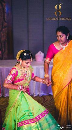 Half Saree Lehenga, Saree Dress, Half Saree Function, Half Saree Designs, Blouse Designs, Kids Indian Wear, New Frock, Kids Party Wear, Kids Dress Wear