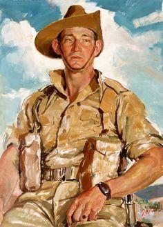 Artist's Footsteps - Portrait of Corporal Jim Gordon V.C. 1941 by William Dargie