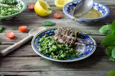 Brochettes de keftas et taboulé libanais-19