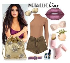 """""""Untitled #288"""" by pankynanky ❤ liked on Polyvore featuring beauty, Lime Crime, American Apparel, Miu Miu, Reptile's House, Wildfox, L'Agent By Agent Provocateur and metalliclips"""