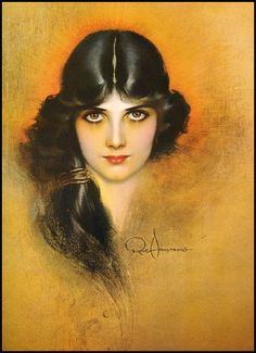 Rolf Armstrong  I love his style of painting!