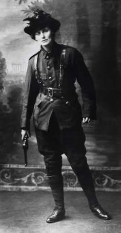 """""""Dress suitably in short skirts and strong boots, leave your jewels in the bank, and buy a revolver."""" Countess Markievicz."""