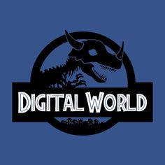 A Digimon parody of the Jurassic Park logo by ALCESA. Digital World. Neko, Digimon Adventure 02, Digimon Digital Monsters, Ex Machina, Jurassic Park, Anime Comics, Anime Manga, Best Funny Pictures, Graphic Tees