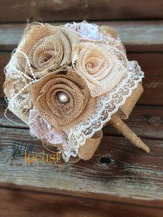 Lace Burlap Bouquet, Wedding Bouquet, Burlap Wedding Bouquet, Lace Bouquet, Burlap and Lace, Burlap, Bride, Bridesmaid Bouquet, Toss Bouquet