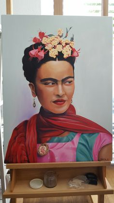 My own oilpainting of Frida Kahlo