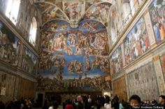 Photos are forbidden in the Sistine Chapel