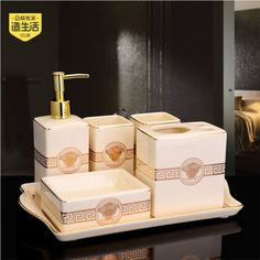 Find More Bathroom Accessories Sets Information about 2016 Sale Toothbrush Holder Make Life Five Piece Bathroom Ceramic European High grade Wash Gargle Suit With Tray Wedding Gift ,High Quality toothbrush holder,China bathroom ceramic Suppliers, Cheap holder toothbrush from Wooden box / crafts Store on Aliexpress.com