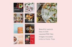 Cafe Themed Social Media Templates Templates These 9 templates are a great start to getting your social media looking great! Every file is comple by Ocular Kraft Art Deco Wedding Invitations, Wedding Invitation Templates, Business Illustration, Pencil Illustration, Social Media Template, Social Media Design, Youtube Channel Art, Creative Sketches, Business Card Logo