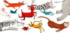 Illustration originale de Marion Arbona - La course   Oeuvres   Galerie Robillard