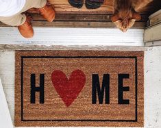 Welcome Home Mat For Business Card
