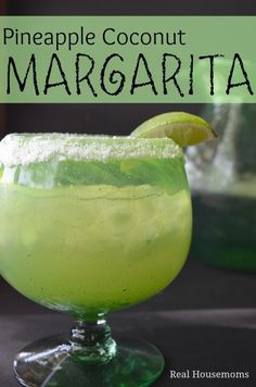Pineapple Coconut Margarita | Real Housemoms | Cant wait to make these this summer!!!