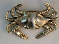 Vintage Danecraft Sterling Crab Brooch Zodiac Cancer