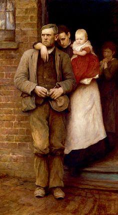 On Strike by Hubert von Herkomer, 1891 Oil on canvas Royal Academy of Arts, London