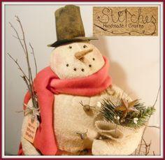Snow Dreamer Snowman Figurine by JMLStitchesCrafts on Etsy