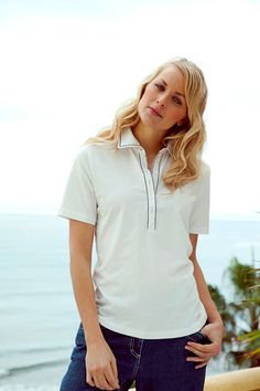 Women's Tee from the timeless Blue Willi's Classic Collection.   95% Cotton;  5% Lycra. On special offer.