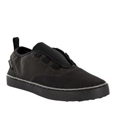 Take a look at this Black Mush Pier Point Slip-On Sneaker - Kids by Teva on #zulily today!
