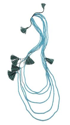 serefina Beaded Layer Tassel Necklace