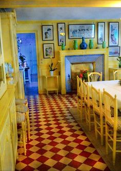 Claude Monetu0027s Dining Room At His Gardens In Giverny Https://fbcdn Sphotos